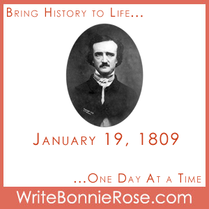 Timeline Worksheet: January 19, 1809, Edgar Allan Poe