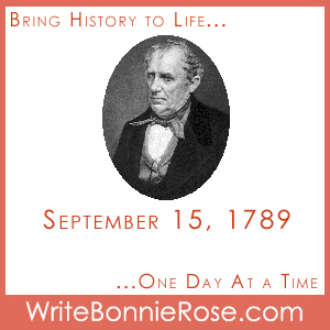 Timeline Worksheet, September 15, 1789, James Fenimore Cooper