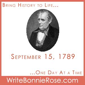 Timeline Worksheet, September 15, 1789, James Fenimore Cooper