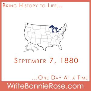 Timeline Worksheet September 7, 1880, Geography Speed Drill