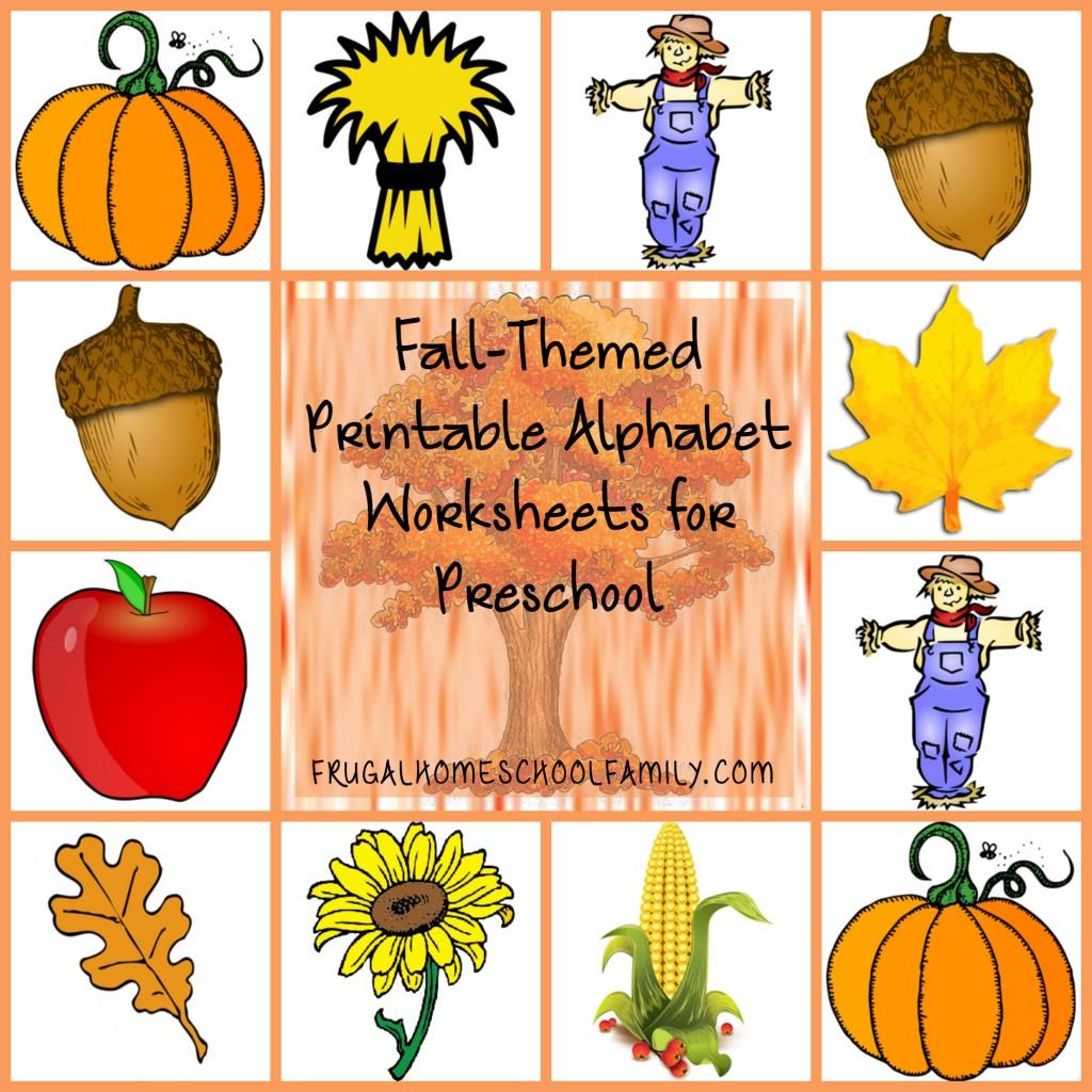 Free Worksheet Fall Worksheets For Preschool alphabet worksheets for preschool with a fall theme theme