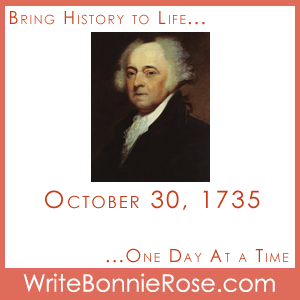 Timeline Worksheet: October 30, 1735, John Adams Presidential Copywork