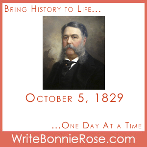Timeline Worksheet October 5, 1829, Chester A. Arthur and Discrimination Writing Prompt