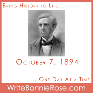Timeline Worksheet: October 7, 1894, Oliver Wendell Holmes
