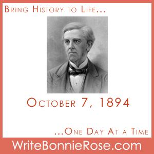Timeline Worksheet October 7, 1894, Oliver Wendell Holmes
