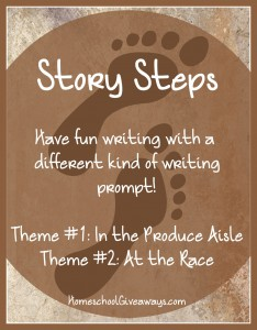 Writing Prompts Story Steps In the Produce Aisle and At the Race