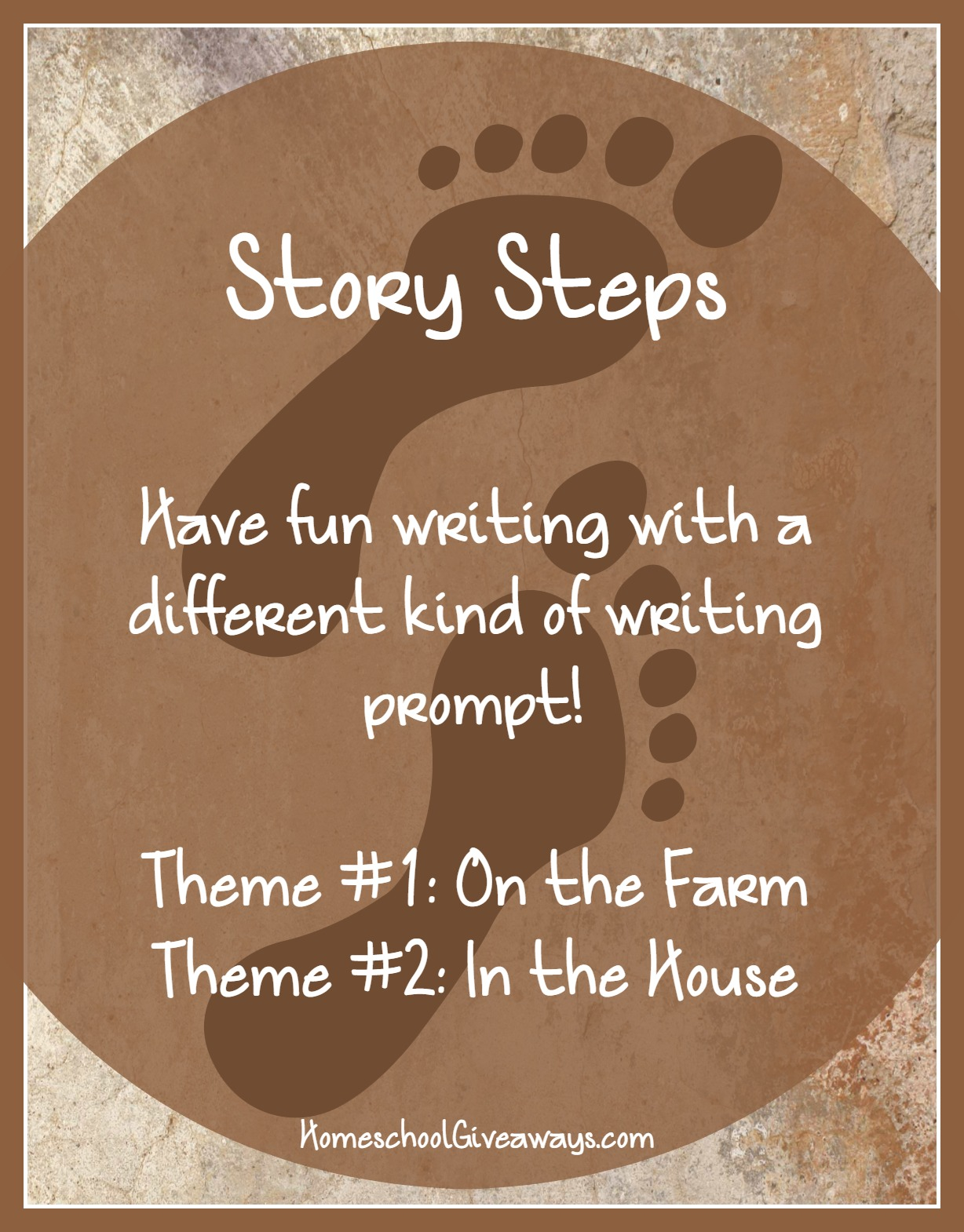 FREE Writing Prompts-Story Steps Volume 1: On the Farm and In the House