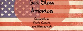 God Bless America Copywork