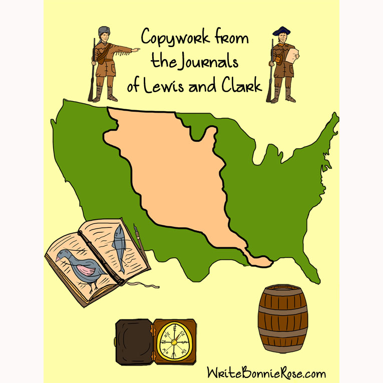 copywork from the journals of lewis and clark manuscript style e book