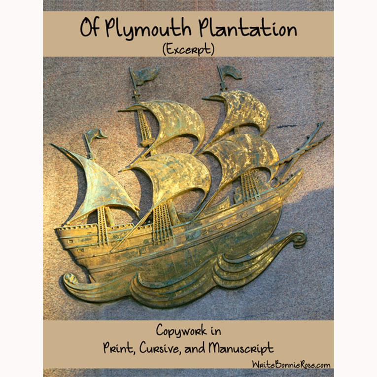Of Plymouth Plantation (Excerpt)-Copywork (e-book)