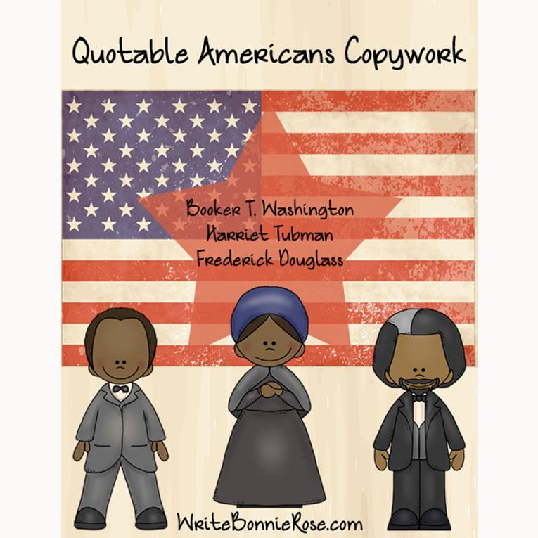 Quotable Americans Copywork-Cursive (e-book)