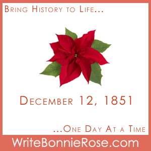 Timeline Worksheet: December 12, 1851, Poinsettia Day