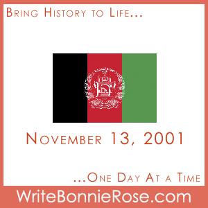 Timeline Worksheet November 13, 2001, Afghanistan and the Lost