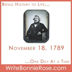 Timeline Worksheet November 18, 1789, Daguerre
