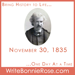Timeline Worksheet: November 30, 1835, Mark Twain