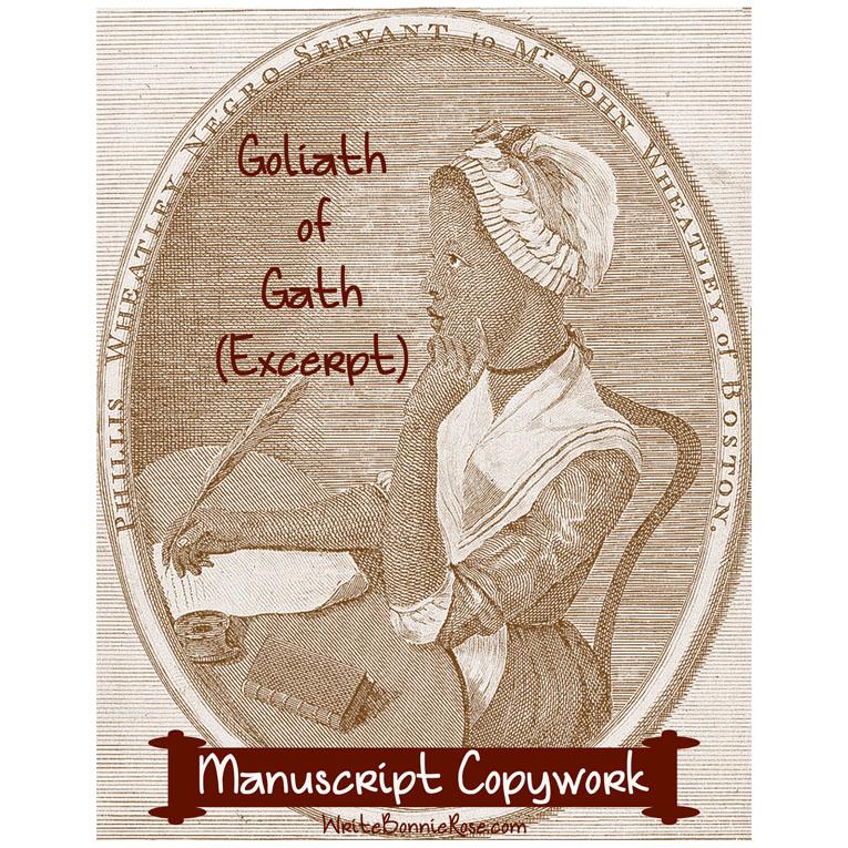 Goliath of Gath by Phillis Wheatley (Excerpt)-Manuscript Copywork (e-book)