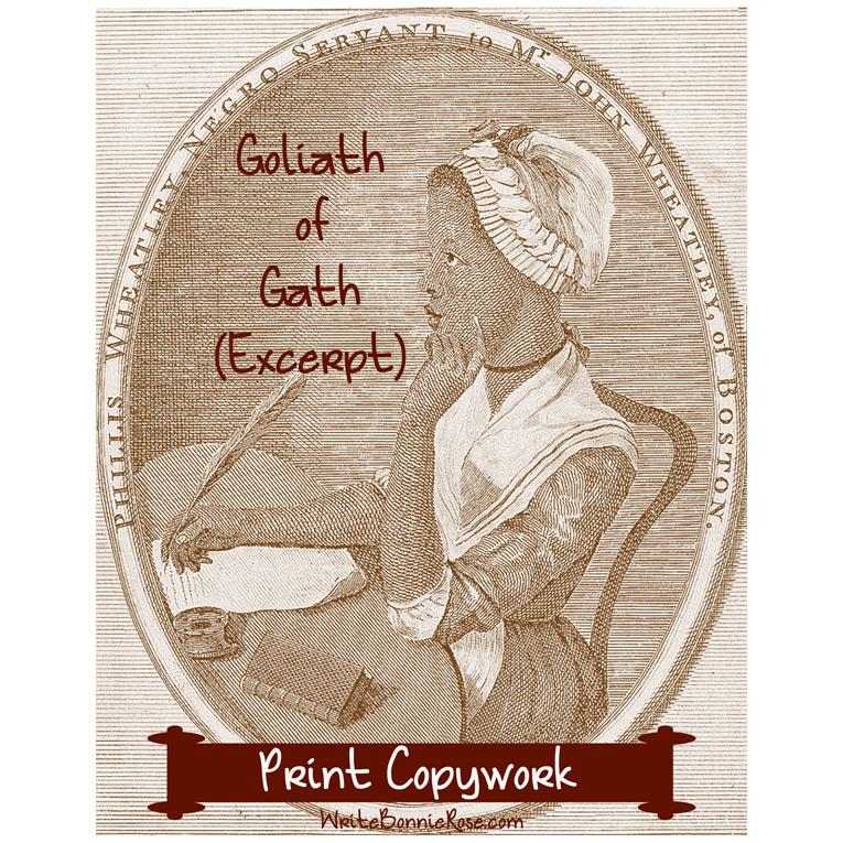 Goliath of Gath by Phillis Wheatley (Excerpt)-Print Copywork (e-book)