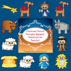 Christmas-Themed Printable Alphabet Worksheets for Preschool