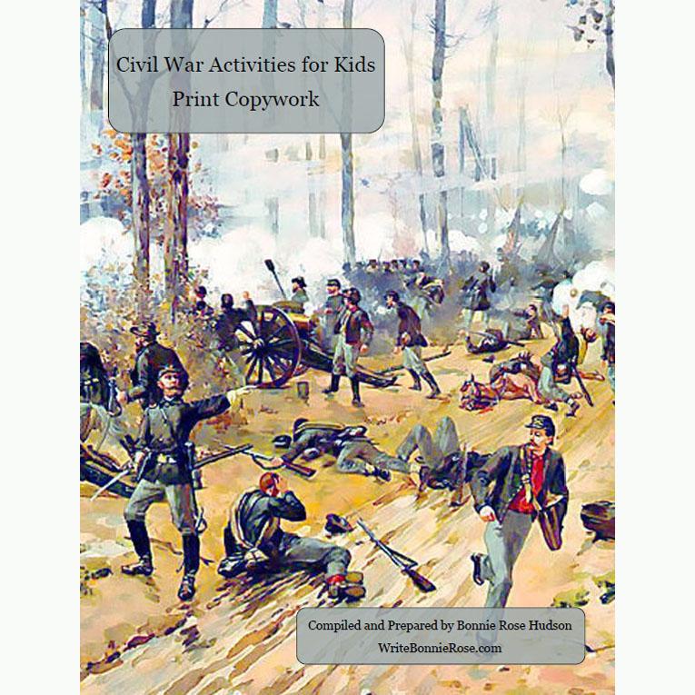 Civil War Activities for Kids: Print Copywork (e-book)