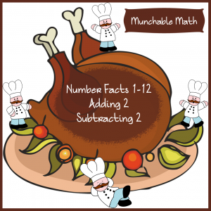 Free Elementary Math Worksheets Munchable Math Turkey