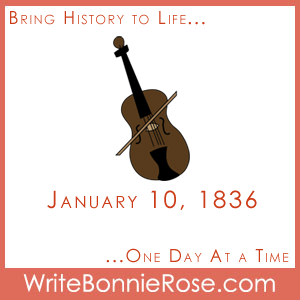 Timeline Worksheet: January 10, 1836, Charles Ingalls Birthday