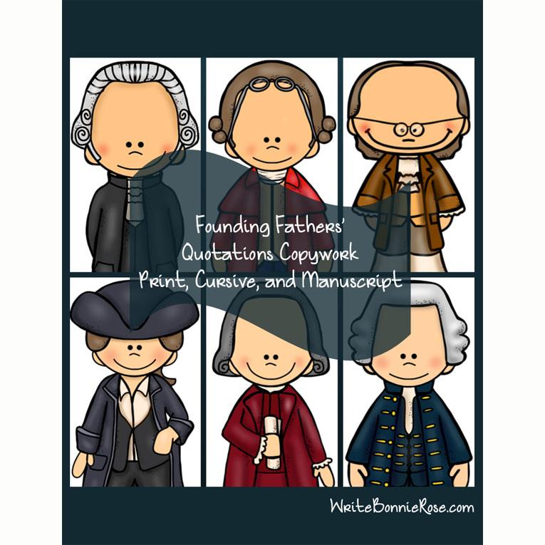 Founding Fathers' Quotations-Copywork (e-book)