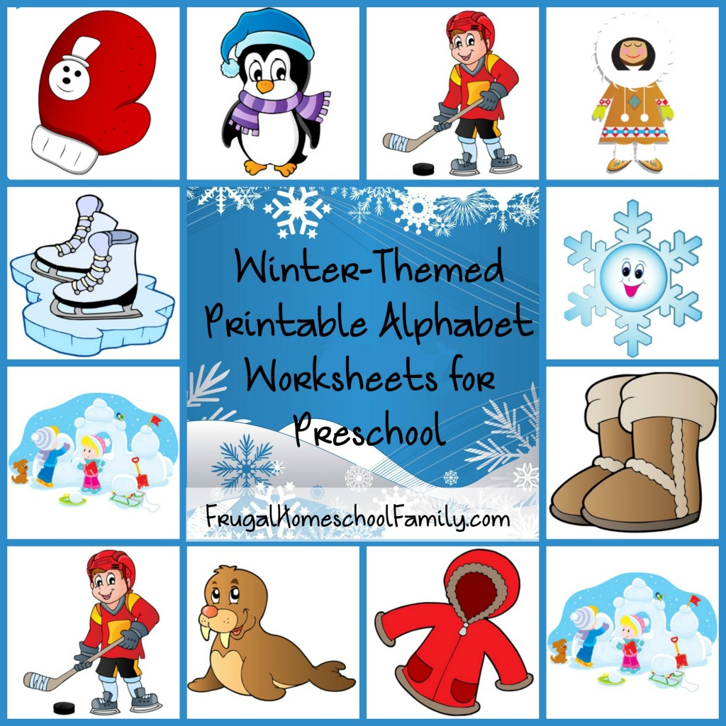 Free Winter-Themed Printable Alphabet Worksheets for ...