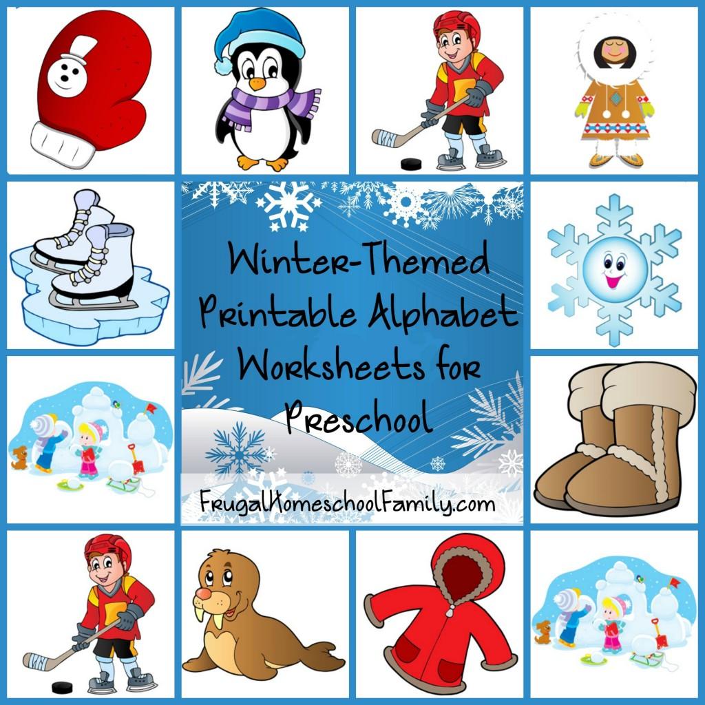 free winter themed printable alphabet worksheets for preschool. Black Bedroom Furniture Sets. Home Design Ideas