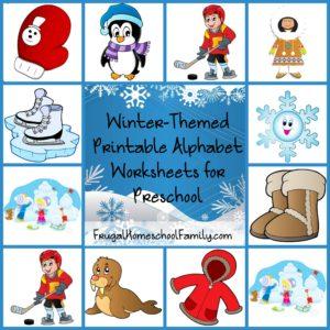 Free Winter-Themed Printable Alphabet Worksheets for Preschool