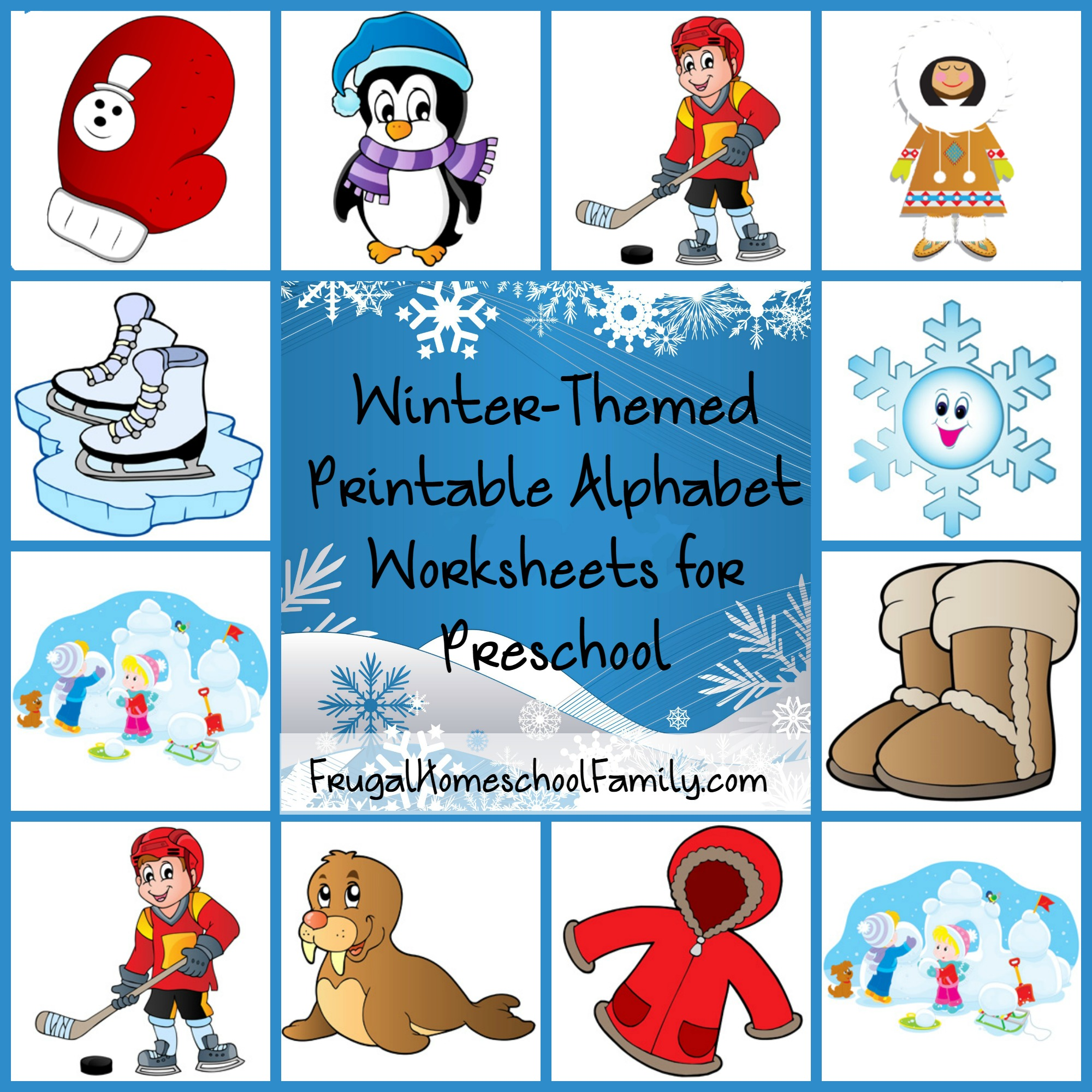 Free Winter-Themed Printable Alphabet Worksheets For