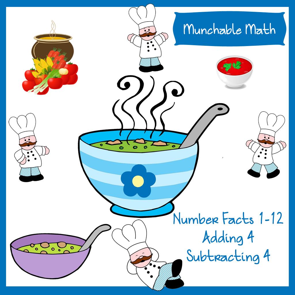 Elementary Math Worksheets - Munchable Math: Soup! - WriteBonnieRose.com