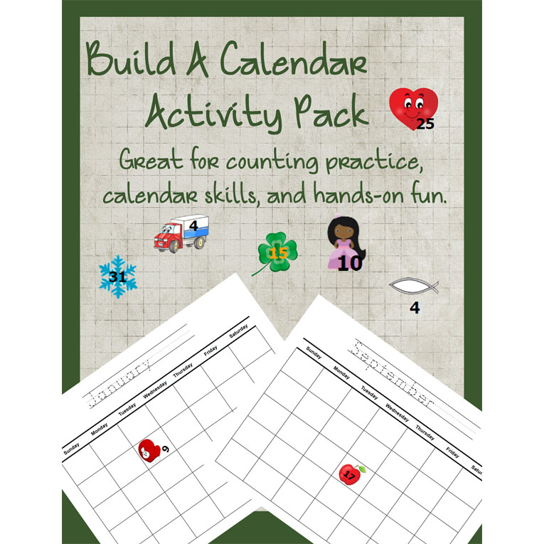 Build a Calendar Activity Pack (e-book)