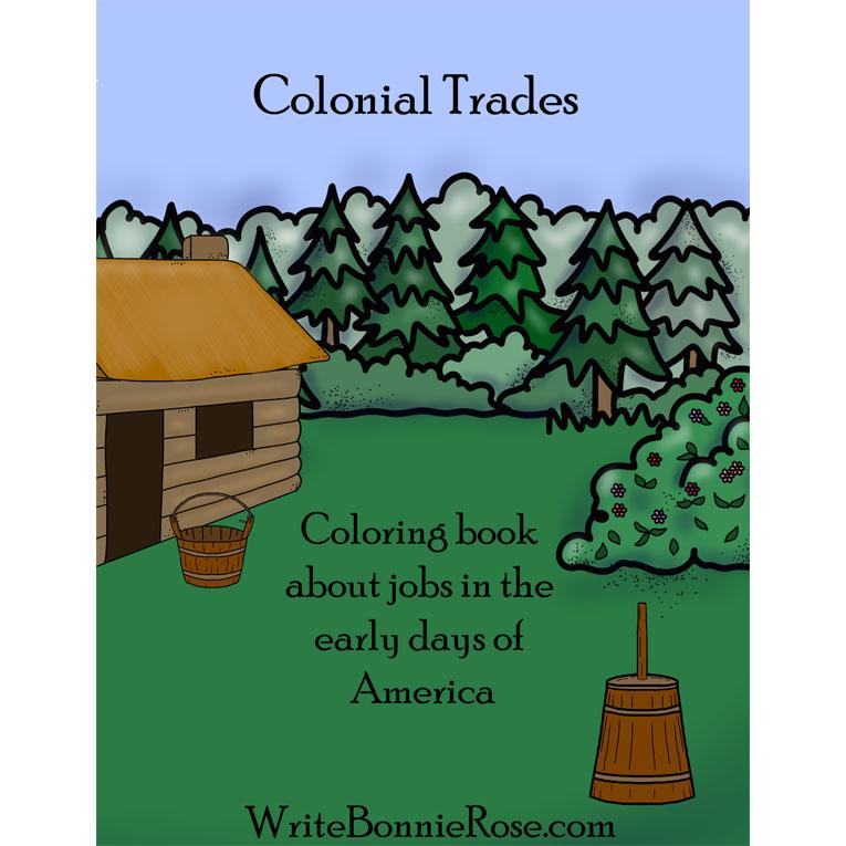 Colonial Trades Coloring Book (e-book)
