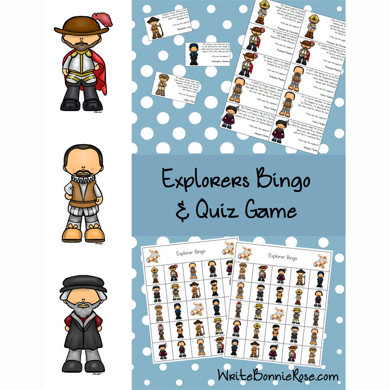 Explorers Bingo and Quiz Game (e-book)