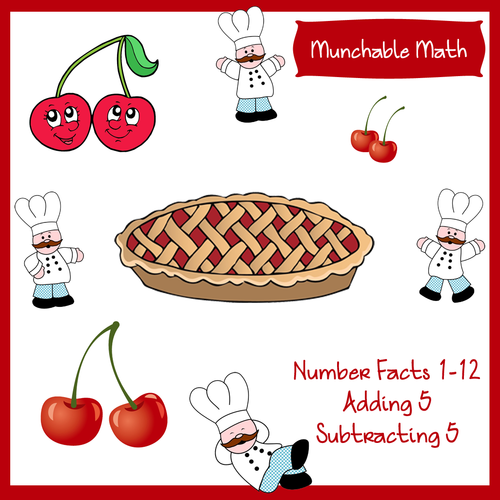 math worksheet : free elementary munchable math worksheets  cherries  : Free Elementary Math Worksheets