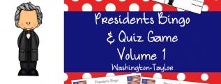 US Presidents Bingo and Quiz Game Volume 1