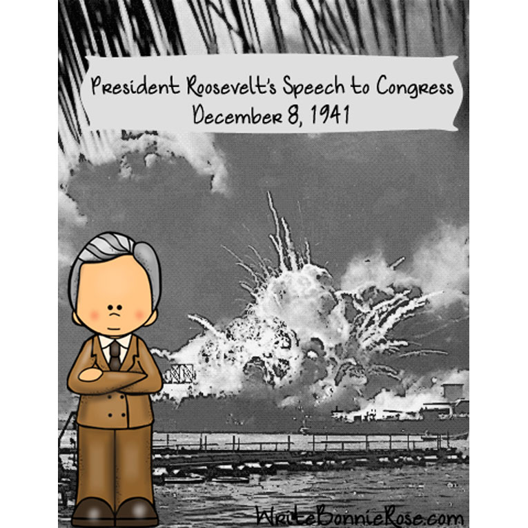 President Roosevelt's Speech to Congress, December 8, 1941-Manuscript Copywork (e-book)
