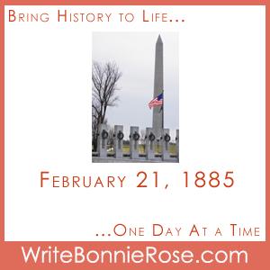 Timeline Worksheet: February 21, 1885, Washington Monument Short Story