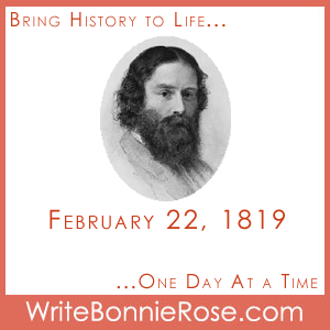 Timeline Worksheet February 22, 1819, James Russell Lowell
