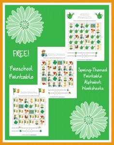 FREE Spring-Themed Printable Alphabet Worksheets for Preschool