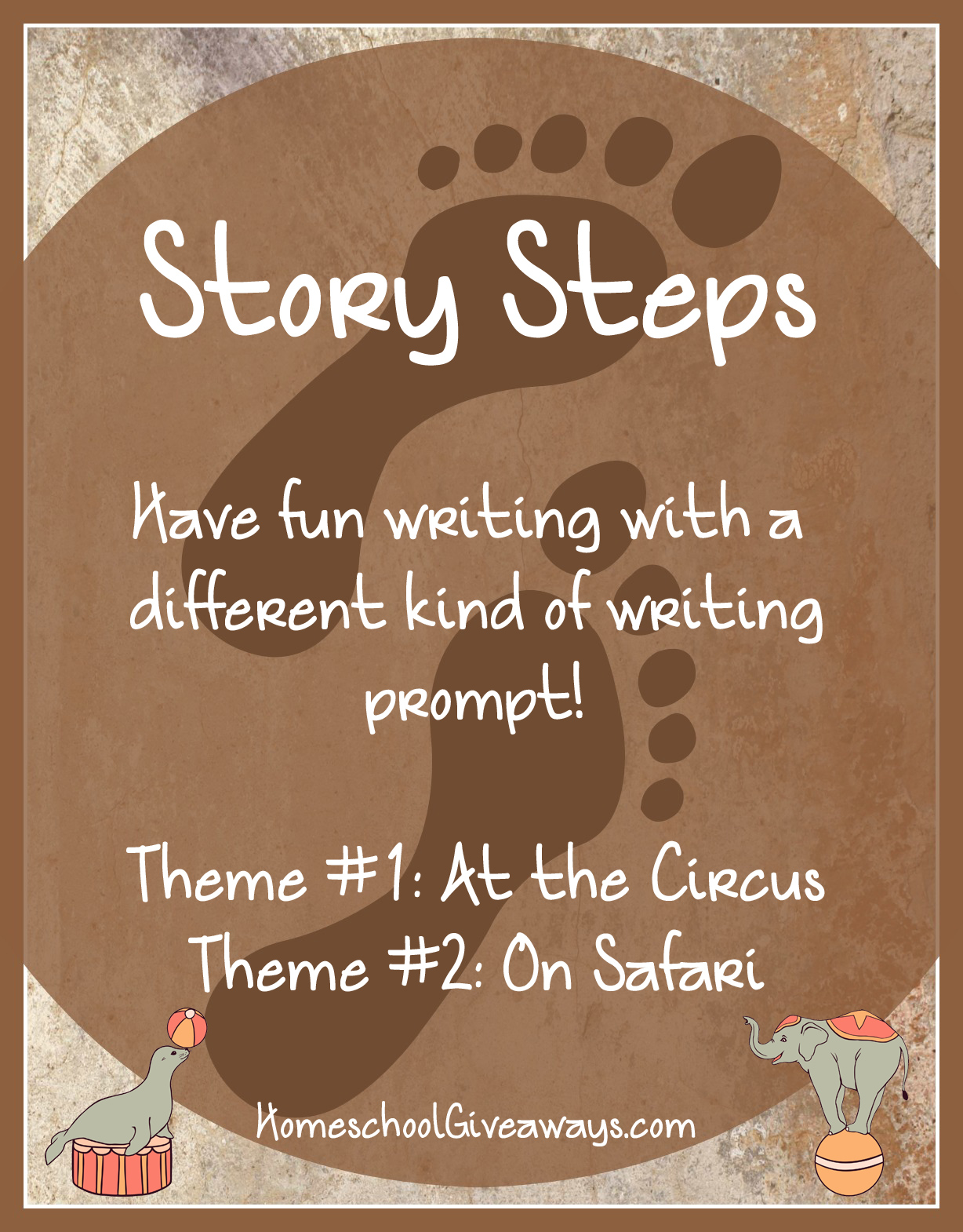 Free Writing Prompts Story Steps-At the Circus and On Safari
