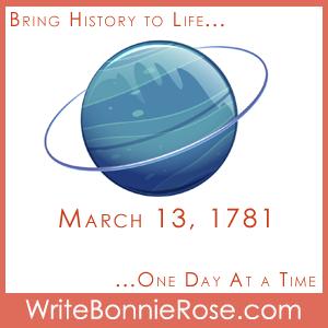 Timeline Worksheet, March 13, 1781, Uranus and astronomy trivia worksheet
