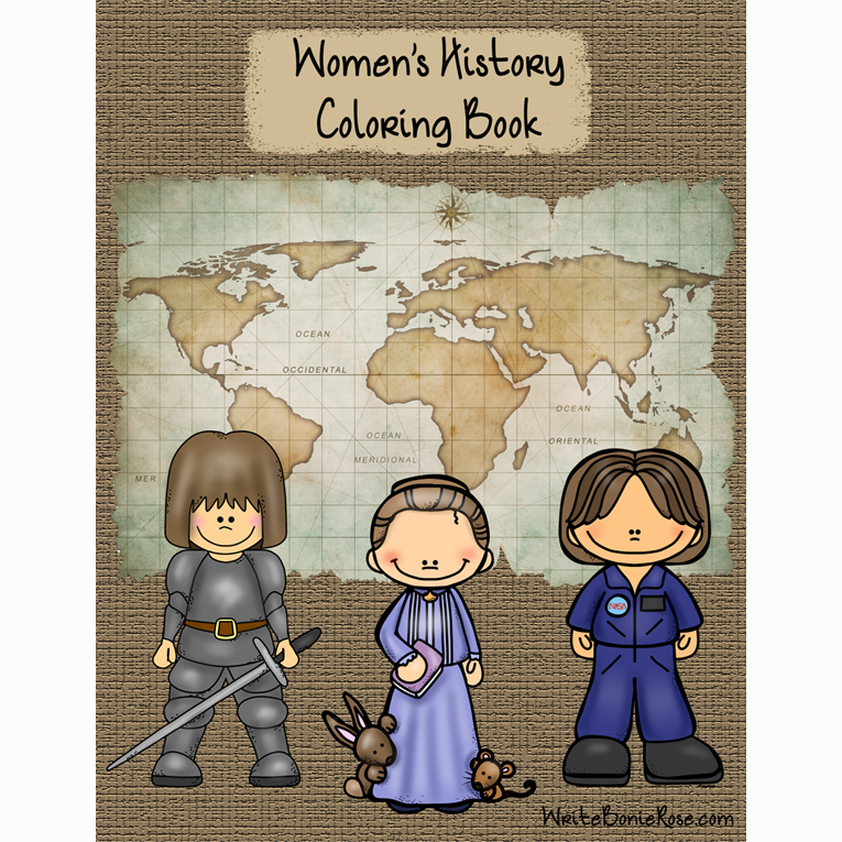 Women's History Coloring Book (e-book)