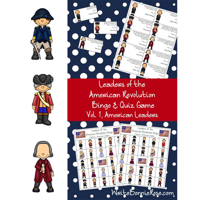Leaders of the American Revolution Bingo & Quiz Game Volume 1 (American Leaders) (e-book)