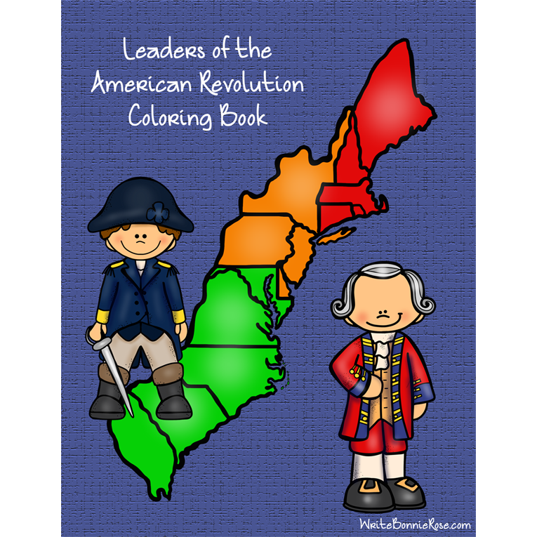 Leaders of the American Revolution Coloring Book (e-book)
