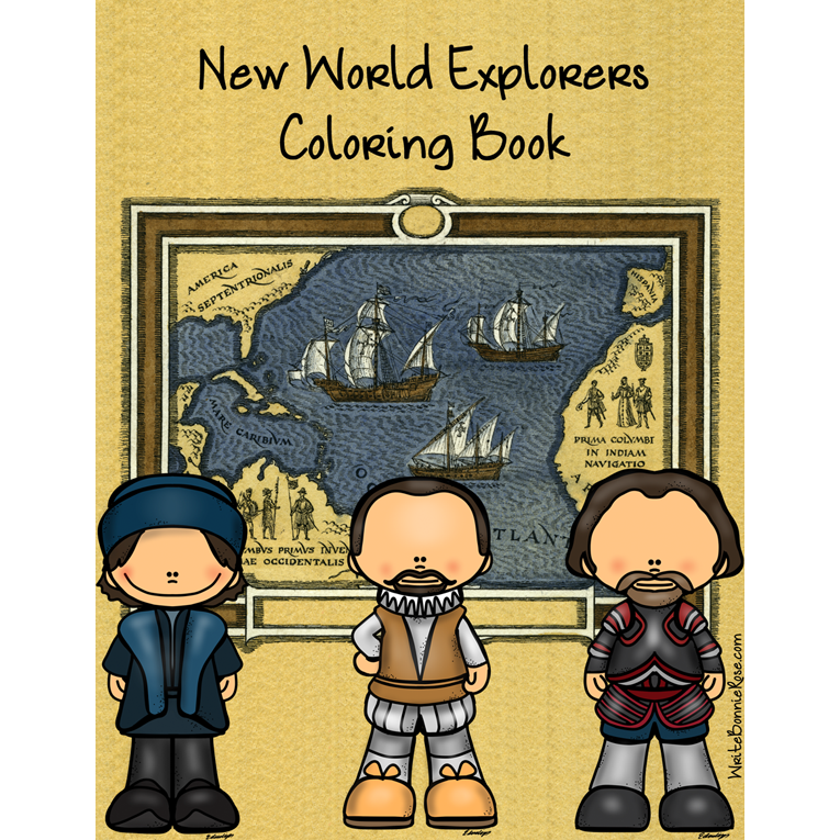 New World Explorers Coloring Book (e-book)