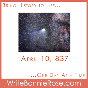 Timeline Worksheet: April 10, 837, Halley's Comet