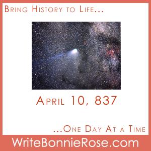 Timeline Worksheet, April 10, 837, Halley's Comet