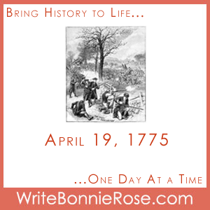 Timeline Worksheet: April 19, 1775, Battles of Lexington and Concord Copywork