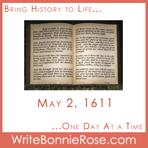 Timeline Worksheet May 2, 1611, Gospel of John Copywork